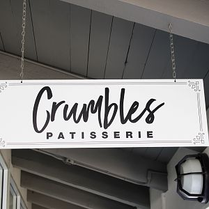 Hanging Sign For Crumbles Patisserie